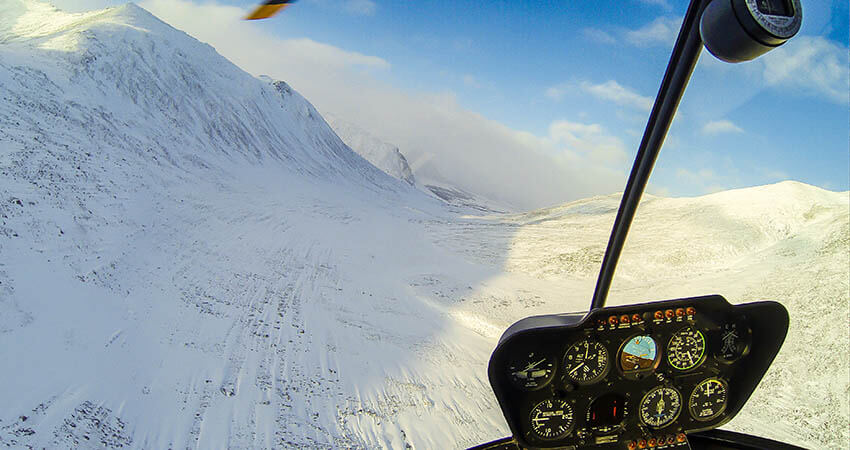 Flying in arctic circle