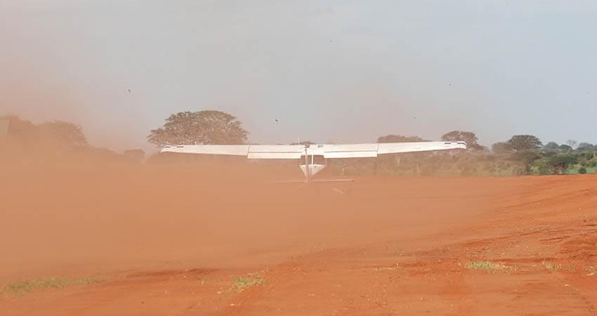Dust storm flying