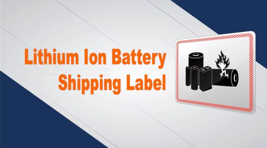 Lithium Ion Battery Shipping Label
